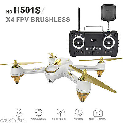 Hubsan H501S X4 5.8G FPV 10CH Brushless with 1080P HD Camera GPS RC Quadcopter -