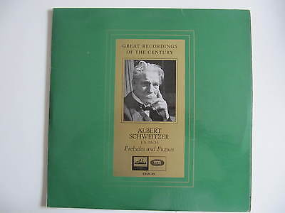 Bach: Preludes & Fugues (Great Recordings of the Century) Schweitzer 1936 LP