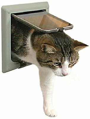Trixie 38642 4-Way Cat Flap with Tunnel Grey