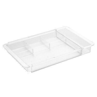 InterDesign Linus Expandable Drawer Organizer Clear