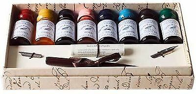 Coles Calligraphy Wooden Pen and Ink Set
