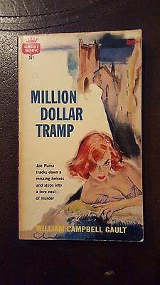 "William Campbell Gault, ""Million Dollar Tramp,"" 1960, Crest 361, VG, 1st"