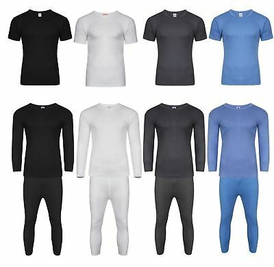 Mens Thermal Long Johns Short Sleeve T-Shirts Winter Warm Thermal Underwear