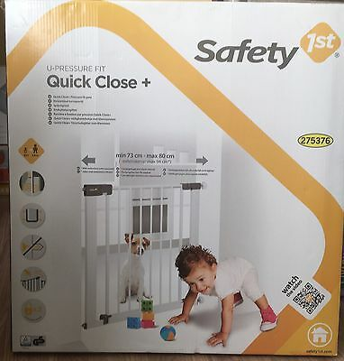 Child Safety Pressure Fit Gates Step Door Stairs Baby Safe Close Pets Barrier