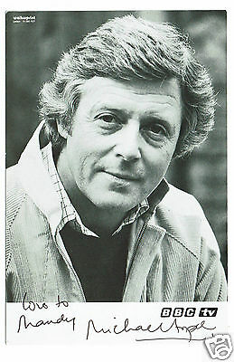 Michael Aspel  Television presenter Hand Signed Vintage BBC Photograph 6 x 4
