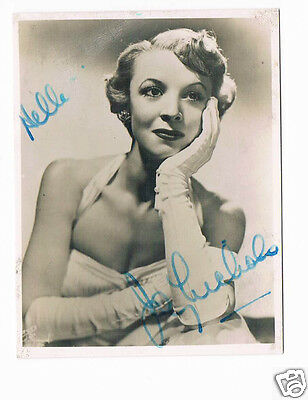 Joy Nichols Comedian TV Actress Vintage Hand Signed Photo 3 x 2.5