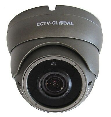 3MP HD TVI AHD CCTV GREY DOME OUTDOOR CAMERA VARIFOCAL 2.8-12mm LENS 30m IR