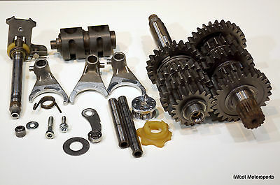 1998 KTM 300 EXC 300EXC Engine 5-Speed Transmission Tranny Gears Shift Fork Drum