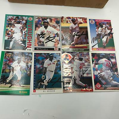 Lot Of (8) Mo Vaughn Signed Autographed Baseball Cards