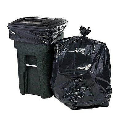 64 Gallon Trash Bags for Toter (Black, 100 Garbage Bags Per Case)