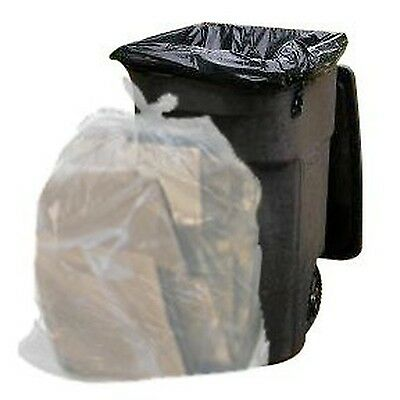 64 Gallon Trash Bags for Toter (Clear, 50 Garbage Bags Per Case)