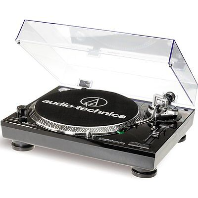 Audio Technica AT-LP120 Direct Drive USB & Analog Turntable ATLP120 Black NEW