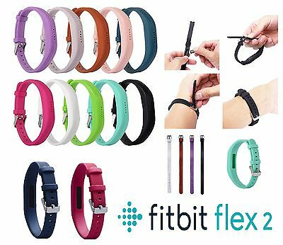Replacement FitBit Flex 2 Fitness Wristband Strap Band Metal Buckle Accessory