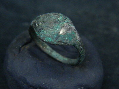 Ancient Silver Ring Medieval 1400 AD      #BR512