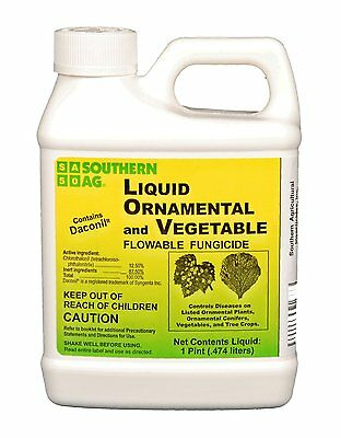 Southern Ag Liquid Ornamental & Vegetable Fungicide with Daconil, 16oz - 1 Pint