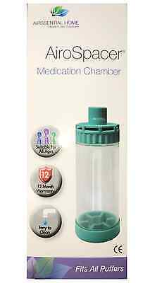 Airssential Asthma COPD Airo Spacer Medication Chamber *Spacer Fits All Puffers*