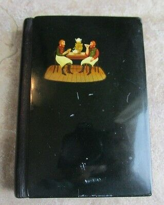 Russian Lacquer Cover Phone, Address, Notebook  Book