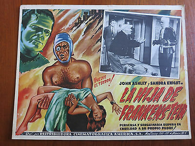 FRANKENSTEIN'S DAUGHTER Original Mexican Lobby Card Movie Poster Cult Horror