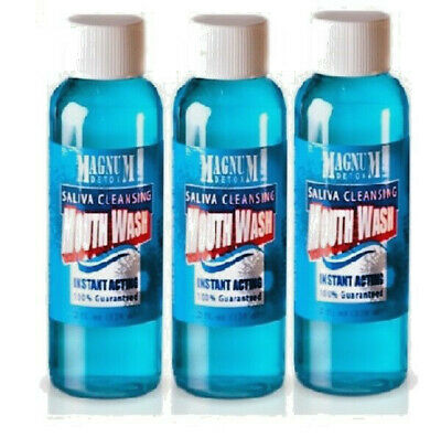 3 x Magnum Detox Saliva Cleansing Mouthwash Oral Test Pass FREE EXPRESS SHIPPING