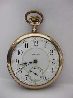 Illinois Pocket Watch 17j 16s for  Parts or Repair