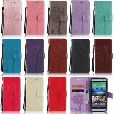 Tree Card Wallet Magnetic Leather Flip Case Cover For HTC One M8 M9 U11 825 830