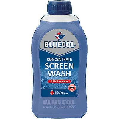 Motorcycle Bluecol Screenwash Concentrated Winter -36 Degrees BLS500 - 500ml UK