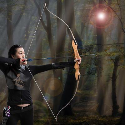 30Lbs Archery Takedown Recurve Bow RH Wooden Riser 68'' Long Bow Hunting Target