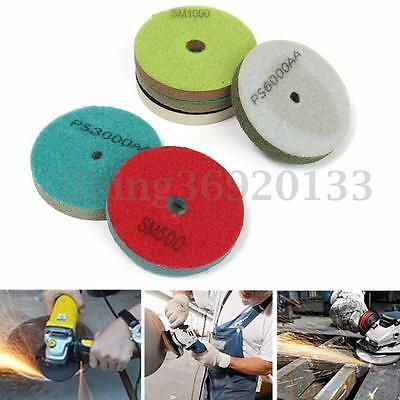 "Diamond Polishing Pads Wheel 4"" inch Wet/Dry For Granite Marble Concrete Stone"