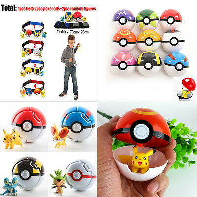 Pokemon Pokeball + Figures Pop-up 7cm Plastic Ball Pikachu Toy Kids Gift Poke