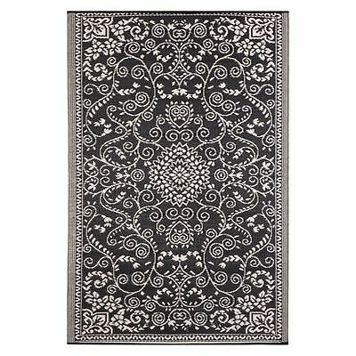 NEW FAB Rugs Murano Plastic Outdoor Rug in Black, Green