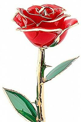 Rose,ZJchao 24 Carat Gold Dipped Real Red Rose Flower,Love gift for girlfriend