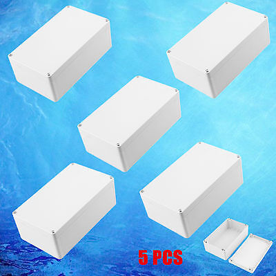 "5pc Electronic Junction Project Box Enclosure Case Waterproof 7.87""x4.72""x2.95"""