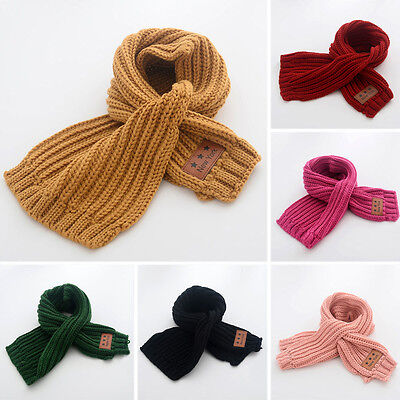 Toddler Kids Boys Girls Baby Winter Warm Intersect Scarf Neck Knit Shawl Scarves