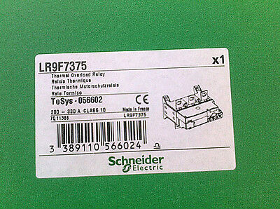 New Schneider thermal overload relay LR9F7375 200-330A