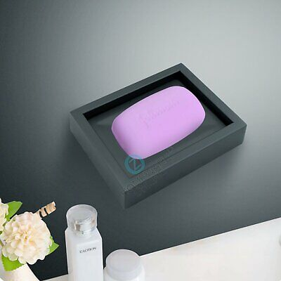 Shower Soap Dish Tray Matt Black Stainless Steel Bathroom Accessories Wall Mount