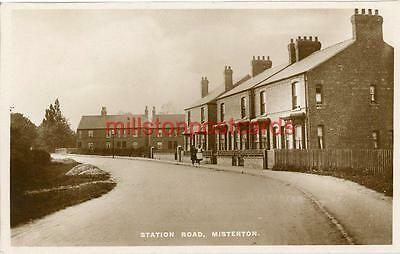 Real Photographic Postcard Of Station Road, Misterton, Nottinghamshire.