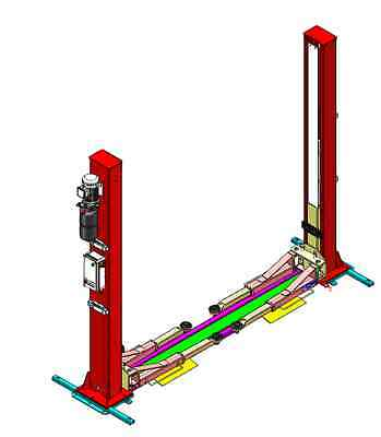 2 Postcar Van Lift 3670Mm Ramp 5.5 Ton Hframe 3 Stage Arms H/d Only £1849 + Vat