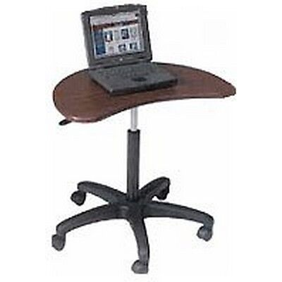 Balt 47262 Pop Adjustable Height Laptop Mobile Stand, Mahogany New