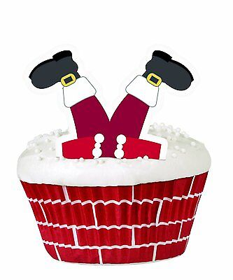 Wilton Christmas Cupcake Decorating Kit Santa Father Christmas Baking Cups NEW