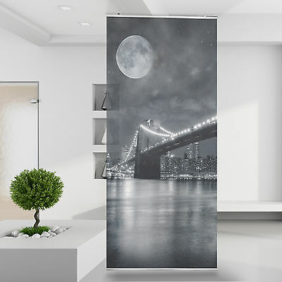 raumteiler vorhang gardine brooklyn bridge skyline new york manhattan usa 80 eur 74 95. Black Bedroom Furniture Sets. Home Design Ideas