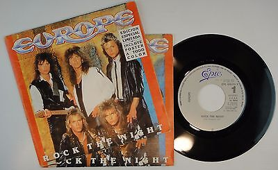 Europe –Rock The Night' 7'' MINT SPAIN PRESS EPC 650171 7 LIMITED POSTER EDITION