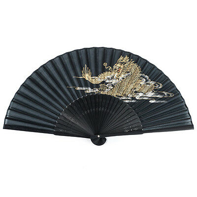 Black Dragon Japanese Folding Fan