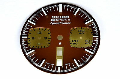 Dial for Seiko 6138-0049 automatic brown bull-head chronograph