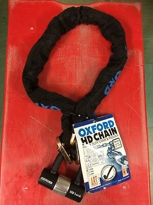 Oxford Hd Motorcycle Motorbike Heavy Duty Chain And Disc Lock 1M 9.5Mm Shackle