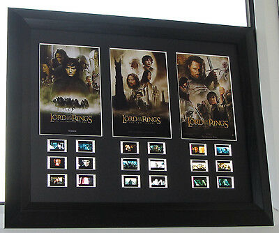 LORD OF THE RINGS TRILOGY FILM CELL MOUNT #18jpt FRAMED PRESENTATION #24/100