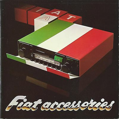 Fiat Accessories UK Market Brochure March 1979 22 Pages Good Condition