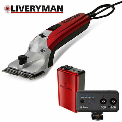 Liveryman Black Beauty Horse Clippers with Lithium Ion Battery + FREE FAST P&P