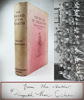 1923*THE SWORD OF THE NORTH*HIGHLAND WWI REGIMENT HISTORY*ROLL OF HONOUR*1st WAR
