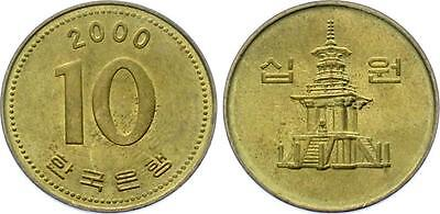 COIN Korea 10 Won 2000 KM# 33