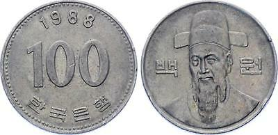COIN Korea 100 Won 1988 KM# 35